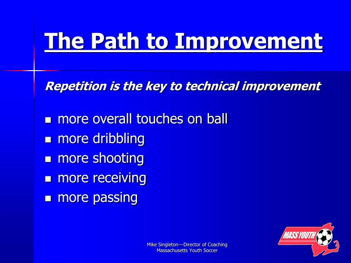 The Path to Improvement