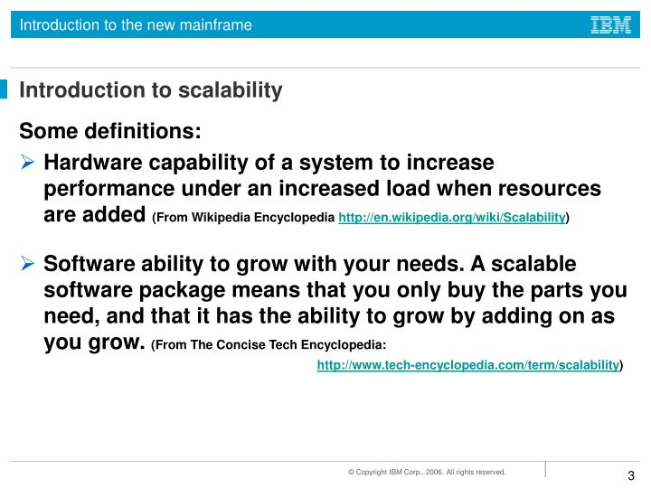 Introduction to scalability