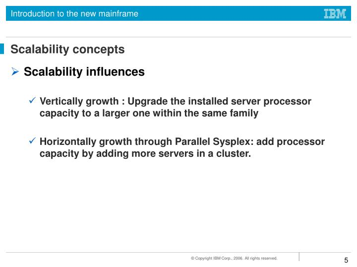 Scalability concepts