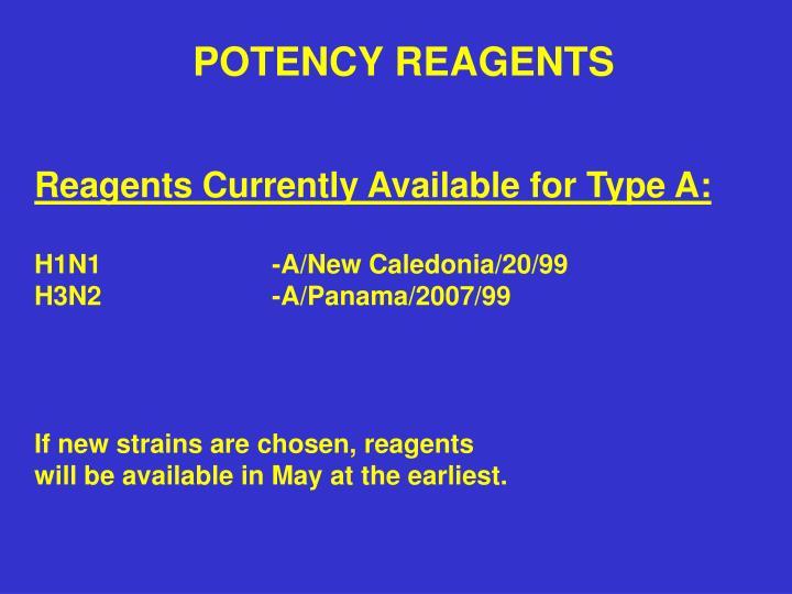 POTENCY REAGENTS