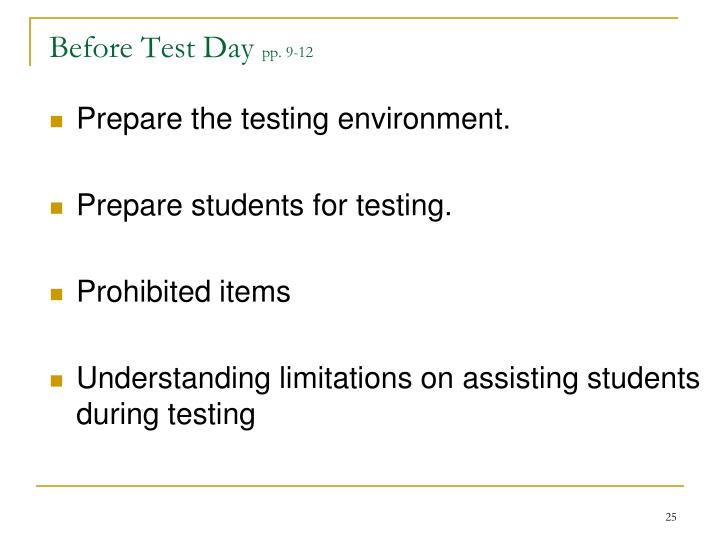 Before Test Day