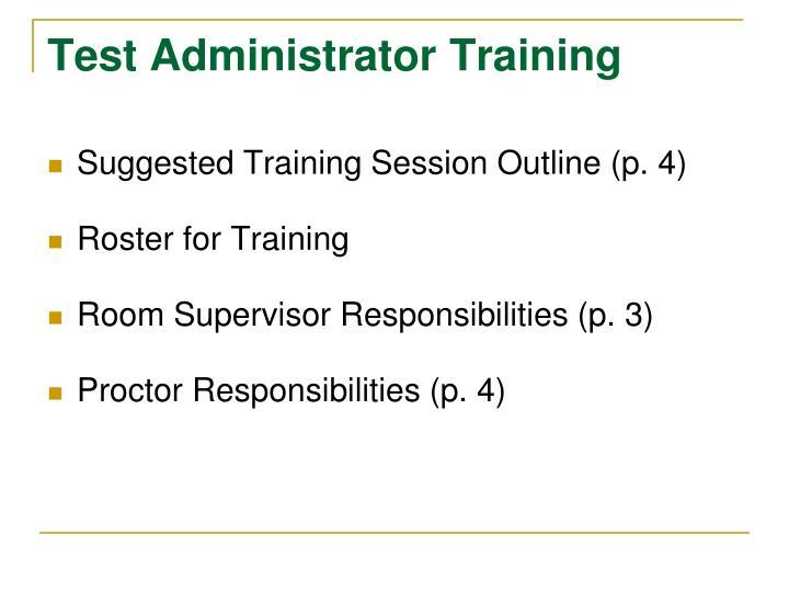 Test Administrator Training