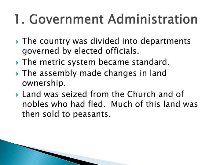 1. Government Administration