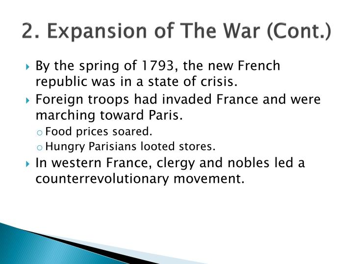 2. Expansion of The War (Cont.)