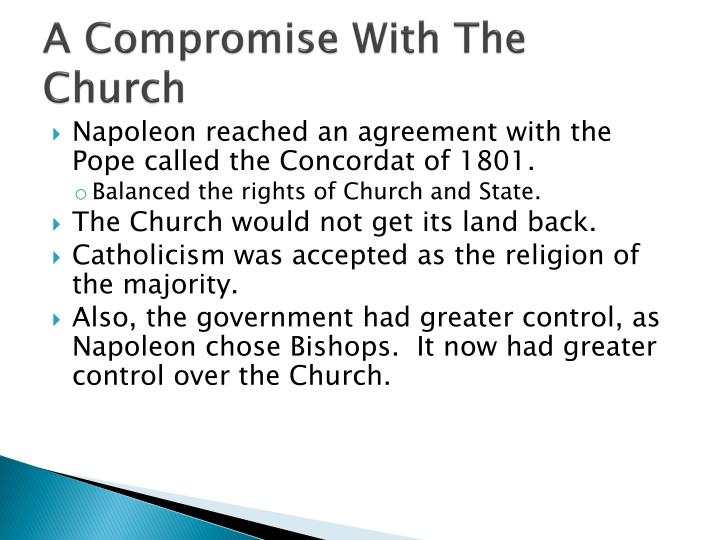 A Compromise With The Church
