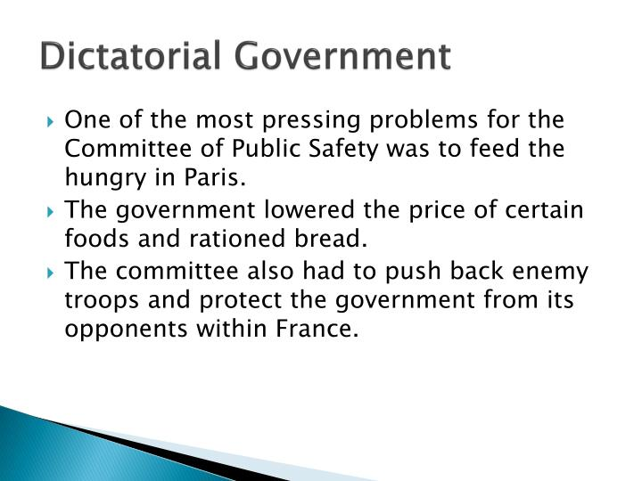 Dictatorial Government