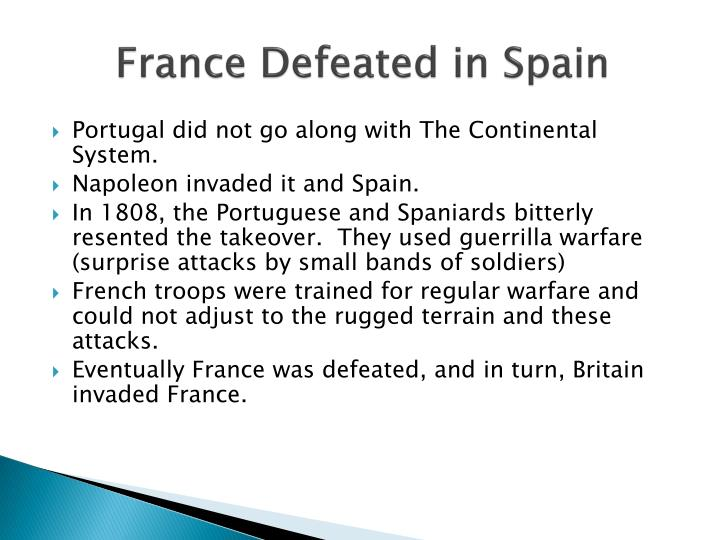 France Defeated in Spain