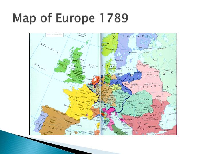 Map of Europe 1789