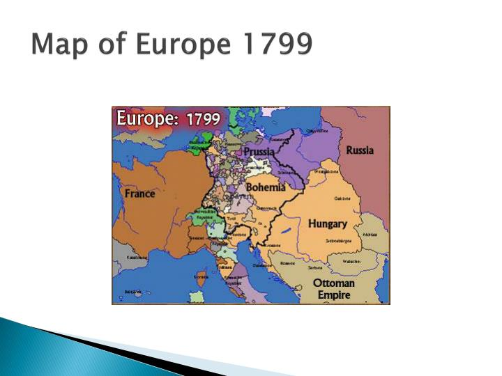 Map of Europe 1799