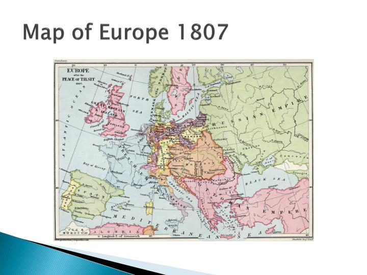 Map of Europe 1807