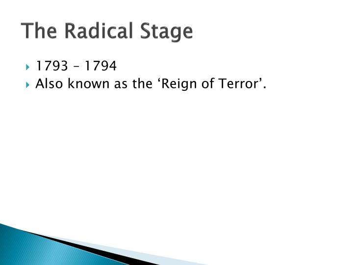 The Radical Stage