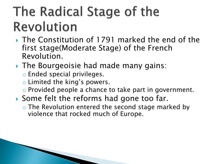 The Radical Stage of the Revolution