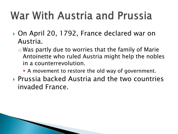 War With Austria and Prussia