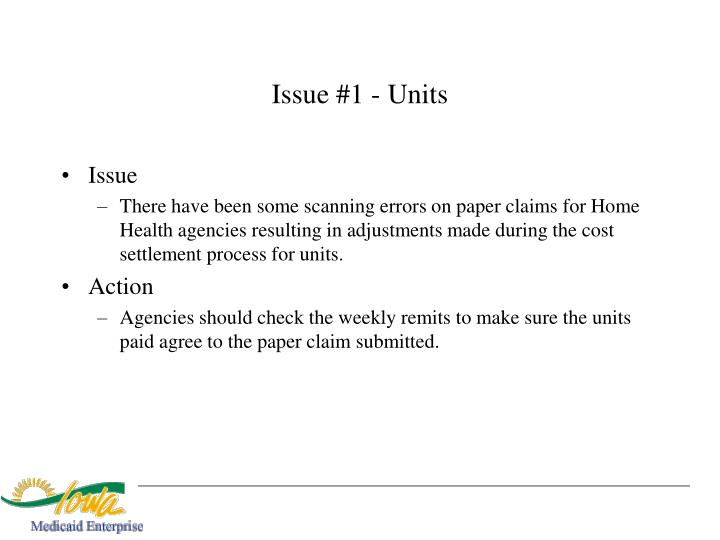 Issue #1 - Units