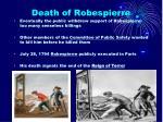death of robespierre