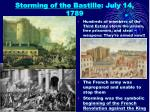 storming of the bastille july 14 1789