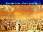 tennis court oath con t