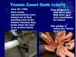 tennis court oath con t1