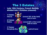 the 3 estates