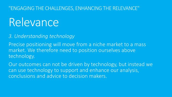"""ENGAGING THE CHALLENGES, ENHANCING THE RELEVANCE"""