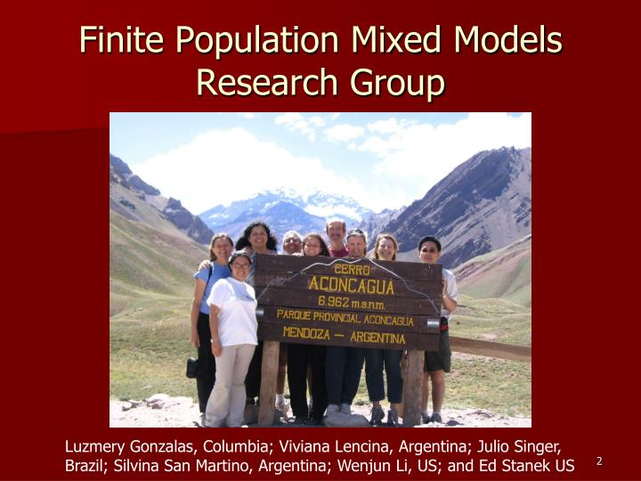 Finite Population Mixed Models Research Group