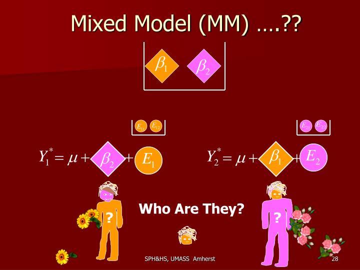 Mixed Model (MM) ….??