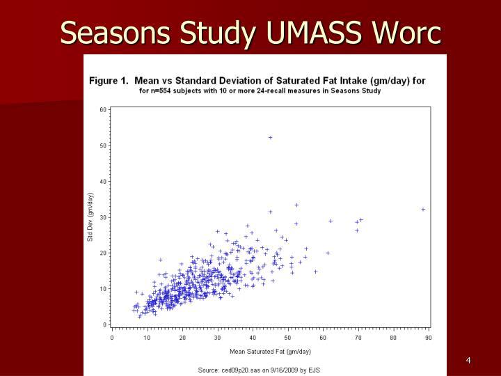 Seasons Study UMASS Worc