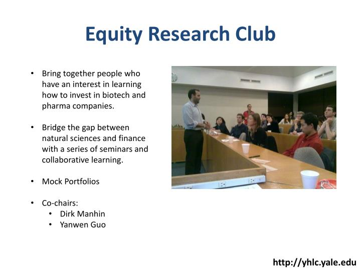 Equity Research Club