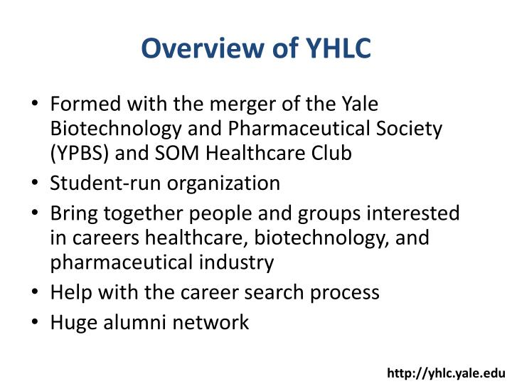 Overview of YHLC