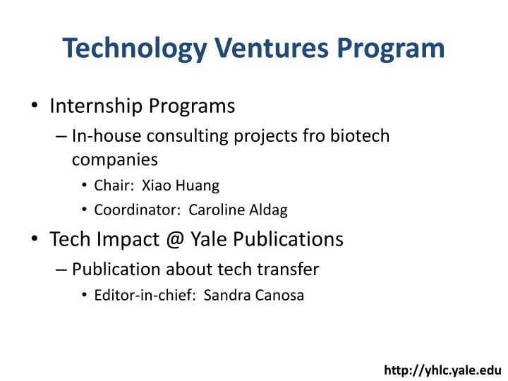 Technology Ventures Program