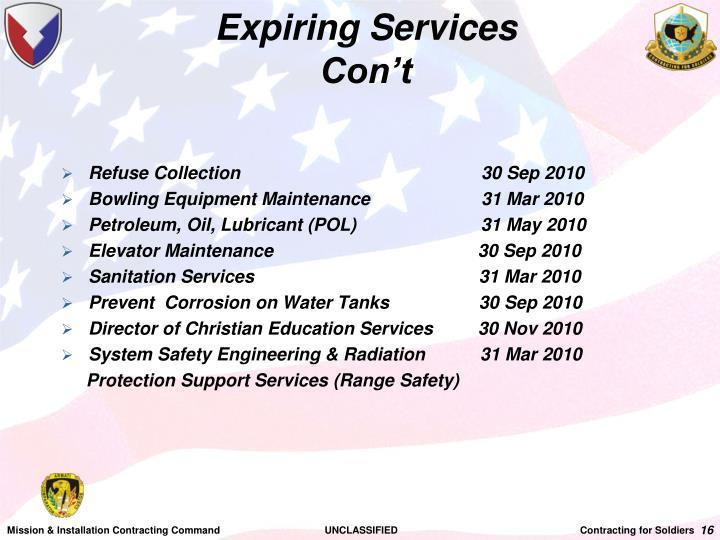 Expiring Services