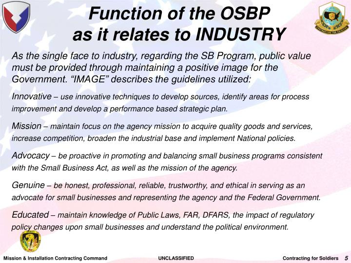 Function of the OSBP