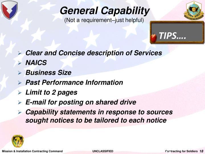 General Capability