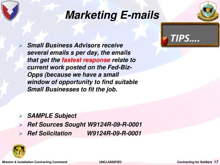 Marketing E-mails