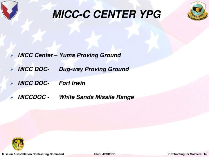 MICC-C CENTER YPG