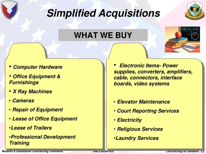 Simplified Acquisitions