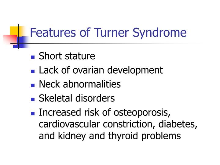 Features of Turner Syndrome