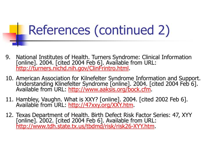 References (continued 2)