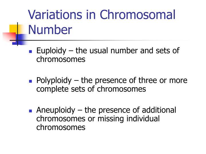 Variations in Chromosomal Number