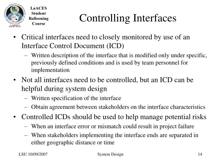 Controlling Interfaces