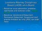 louisiana attorney disciplinary board ladb a k a board