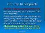odc top 10 complaints5