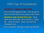 odc top 10 complaints8