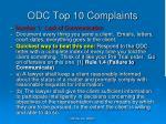 odc top 10 complaints9