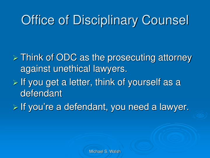 Office of Disciplinary Counsel