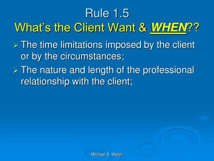 Rule 1.5