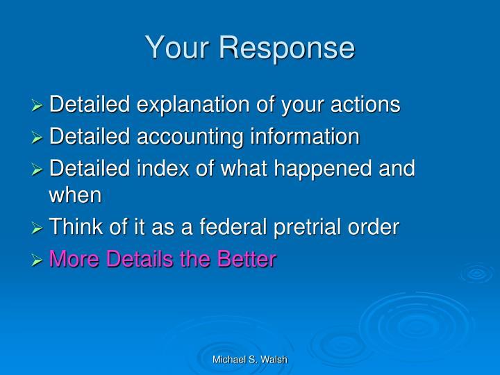Your Response