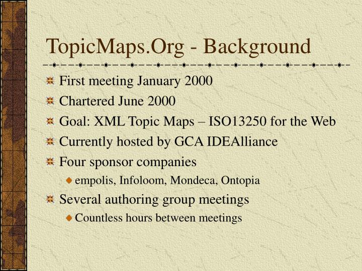 Topicmaps org background