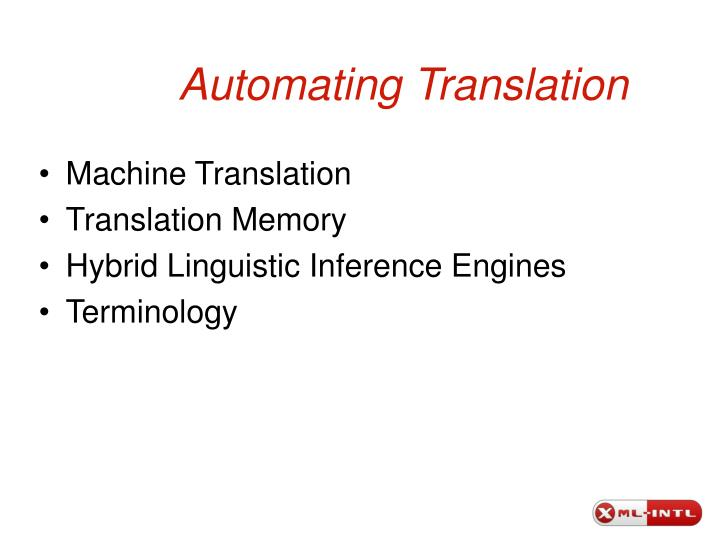Automating translation