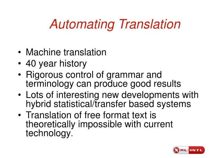 Automating translation1